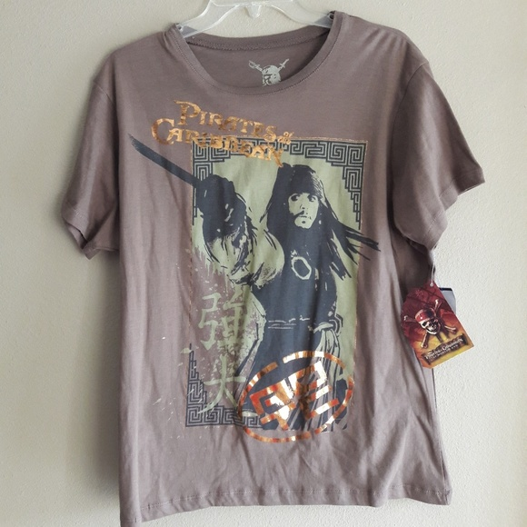 Disney Other - PIRATES OF THE CARIBBEAN BOYS T SHIRT 2XL OFFICAL